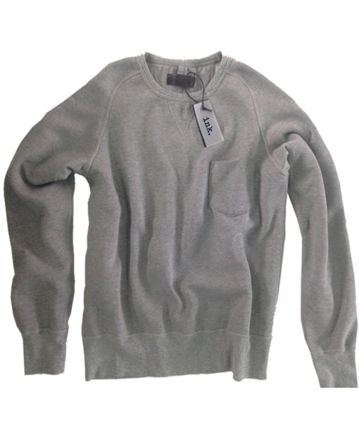 Pollock ash crew neck sweater with pocket copy