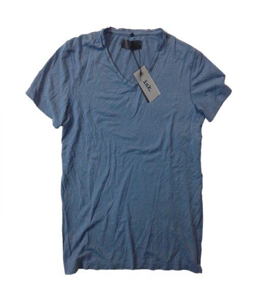 Rodin blue travertine v neck 100% cotton t shirt