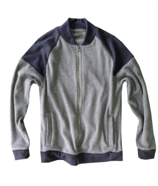 Rodin grey and blue reverserble hoodie