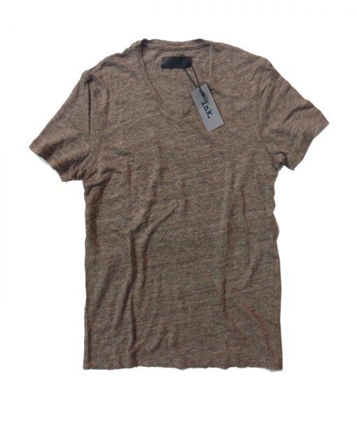 Rodin natural travertine v neck linen t shirt