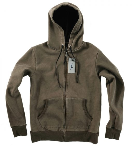 ackson olive full zip hoodie with bonded fleece  copy