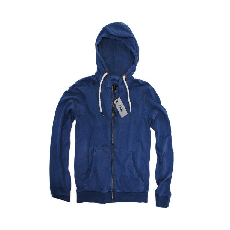 Bacon azure deep blue hoodie
