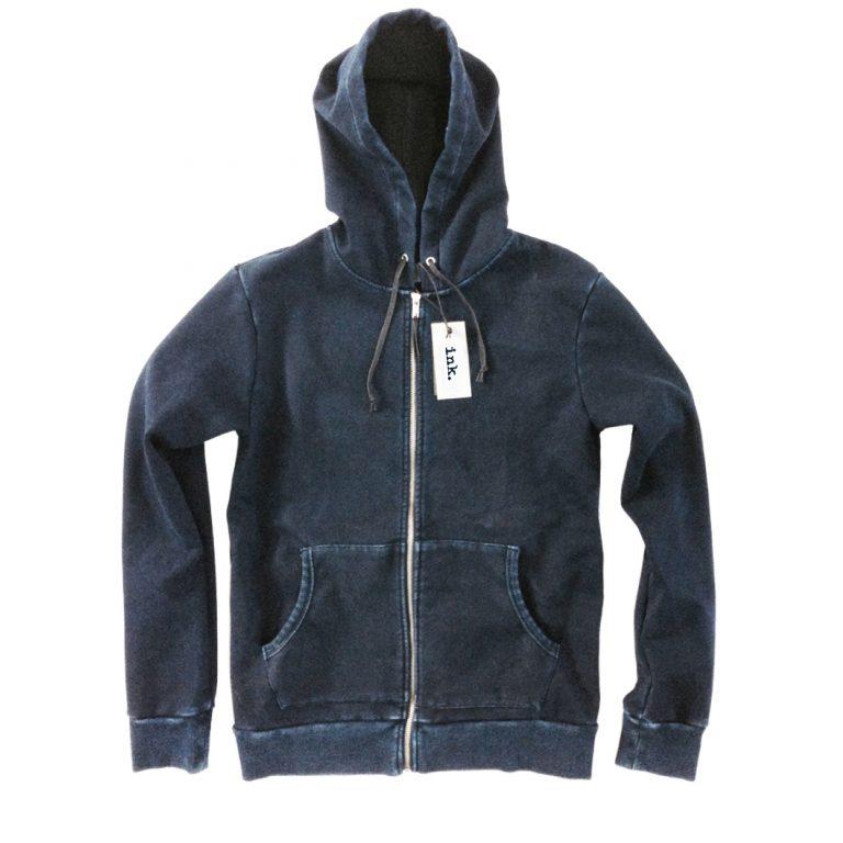 Jackson indigo full zip hoodie with bonded fleece copy