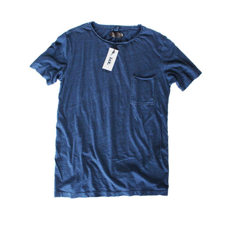 Klein Indigo T shirt with pocket