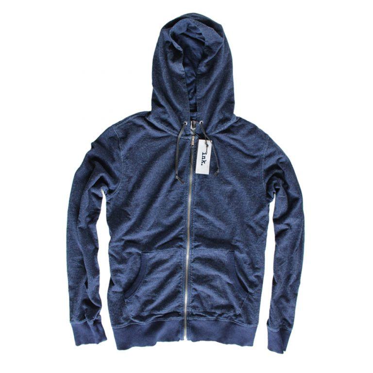 Klein indigo full zip front hoodie copy