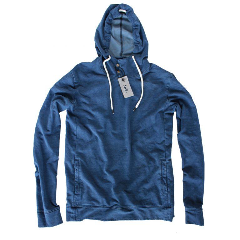 Klein indigo vintage hooded sweat top  copy