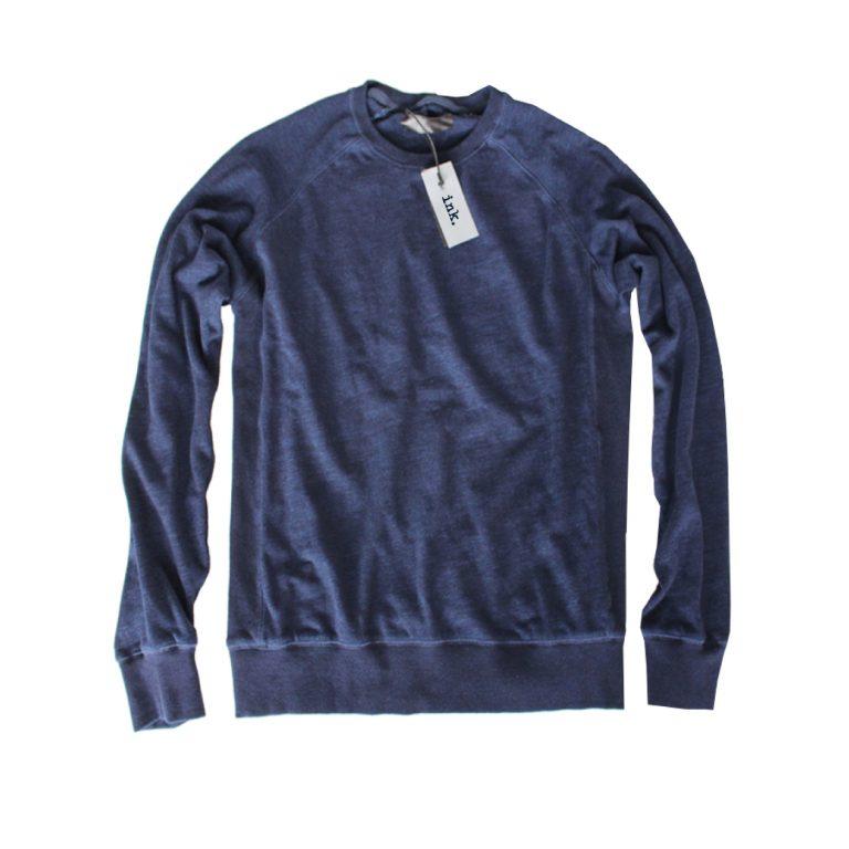 Klein vintage raw indigo crewneck sweat top