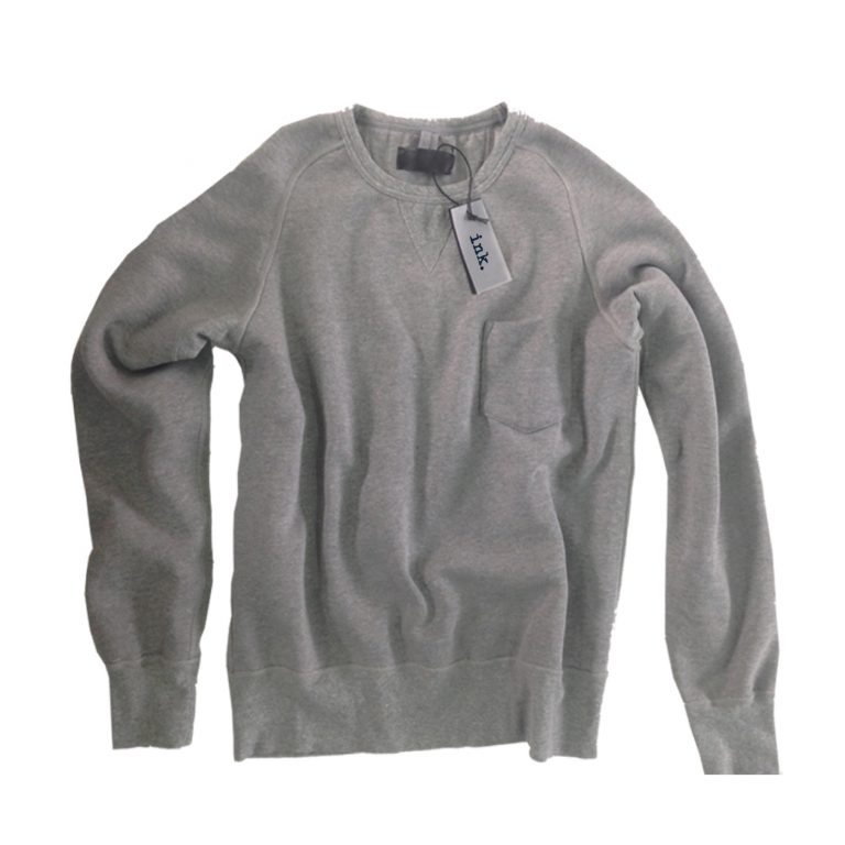 Pollock ash crew neck sweater with pocket copy