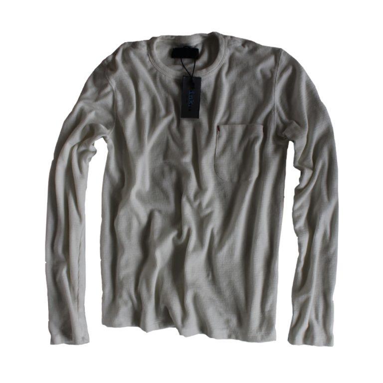 Pollock ash thermal long sleeved crewneck