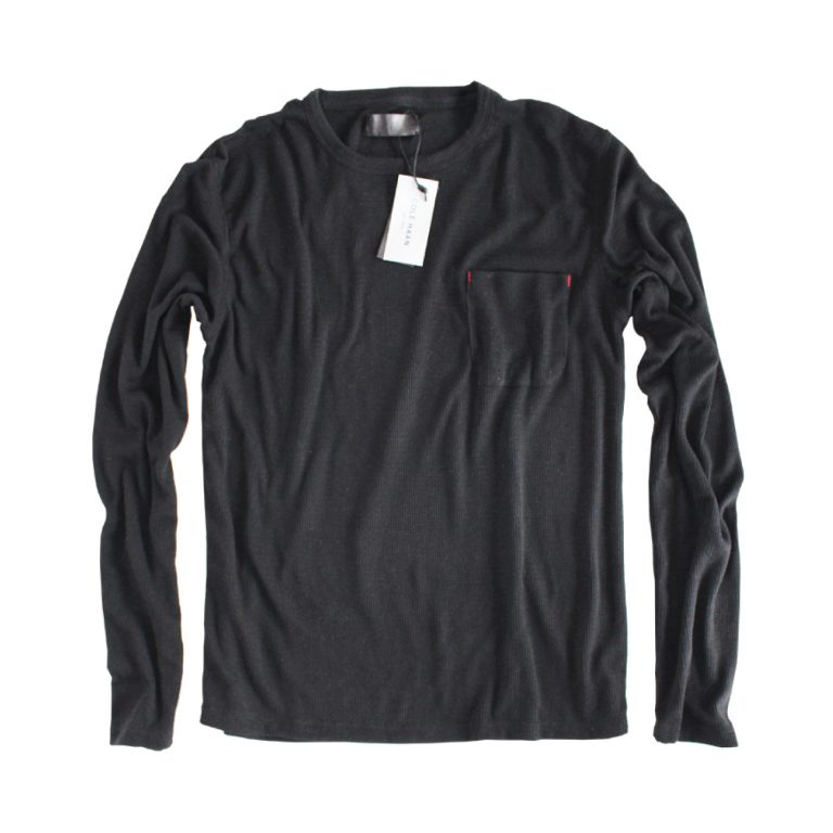 Pollock black thermal long sleeved crewneck