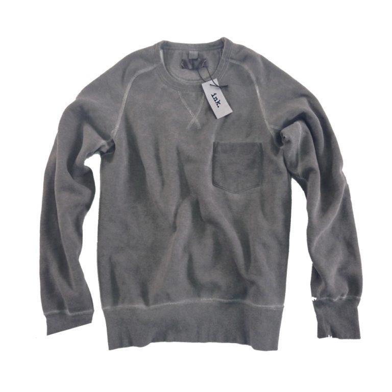 Pollock grey crew neck sweater with pocket