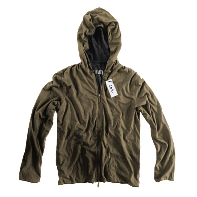 Rodin grey and olive reverserble hoodie copy copy
