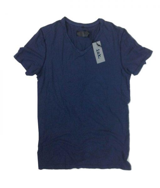 Rodin travertine v neck cotton & linen t shirt