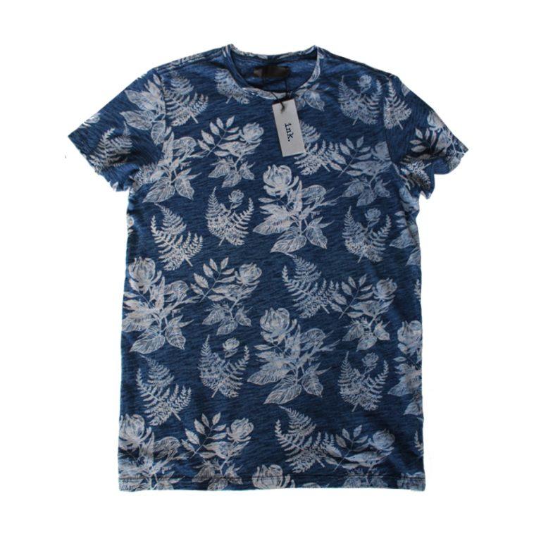 Warhol indigo botanical t shirt