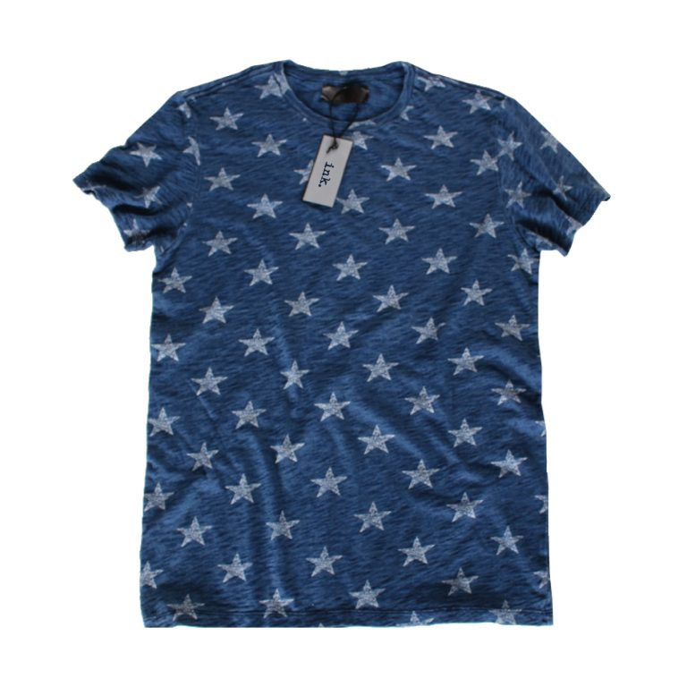 Warhol indigo stars t shirt