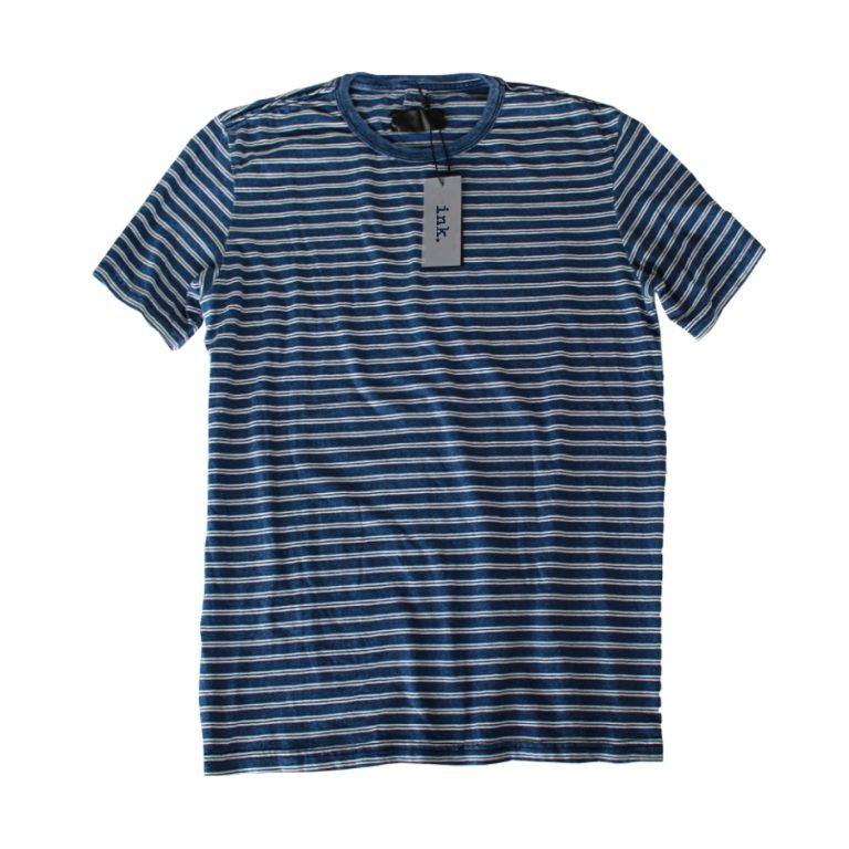 Warhol intigo paris vintage yarn stripe t shirt