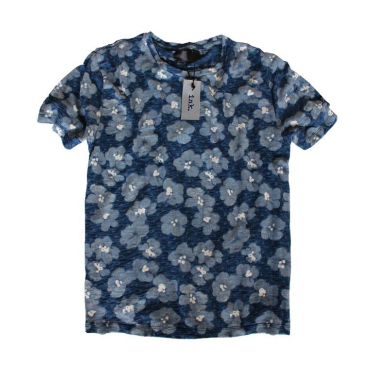warhol indigo flowers t shirt
